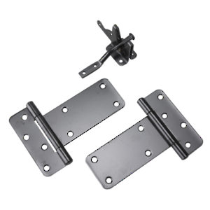 Gate Kit with Latch and Rectangular Hinge