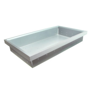 Aluminum Finish Metal Drawers (900 mm Interior Width)