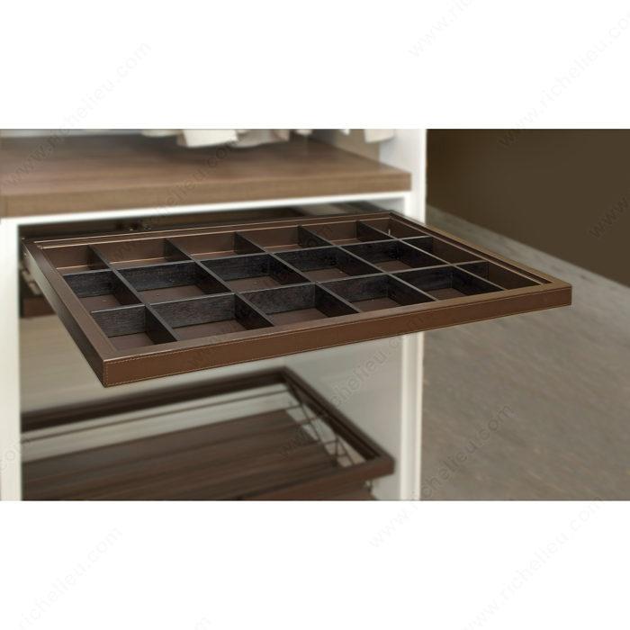 Diviseur en bois pour tiroirs num ro 1304 quincaillerie - Rangement chaussettes tiroir ...