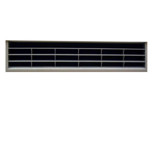 Grille de ventilation de 367 x 79 mm, nickel satiné