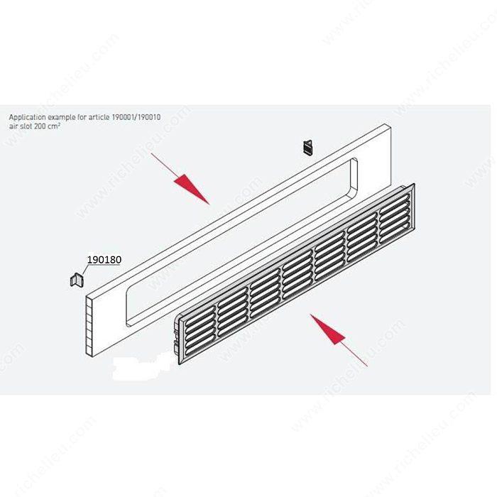 Crampons pour grille de ventilation n 191180 fini - Grille de ventilation pour porte ...