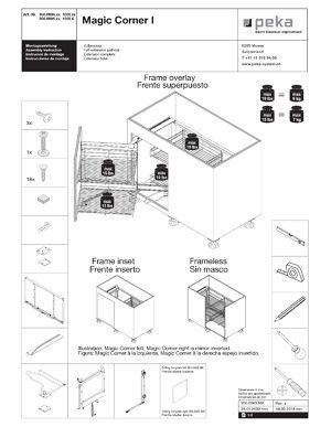 kessebohmer magic corner installation instructions