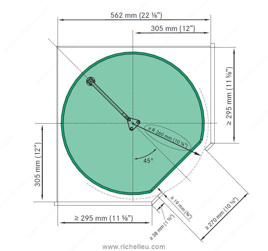 Kit de bandejas twister dream maple 2562140150 richelieu hardware