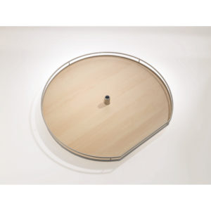 Set of Two D-Shaped Arena Plus Lazy Susan Trays