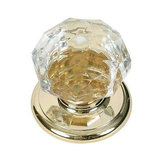 22 Carat Gold-Plated Door Knob with Crystal