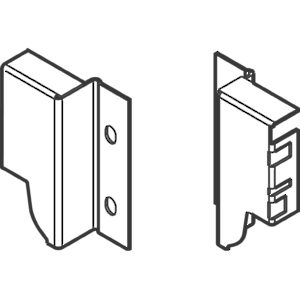 "Chipboard Back Fixing Brackets for Drawer Height ""M"" (83mm, 3-1/4"")"