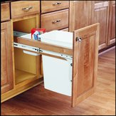 Single Top-Mounting Wood Pull-Out Waste Container