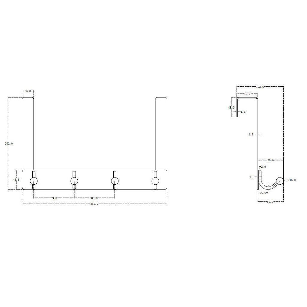 Matte Nickel Finish Richelieu Hardware T17921184 Utility Over The Door Hook