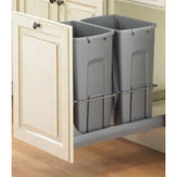 Soft-Close, Bottom-Mount Waste & Recycling Bins