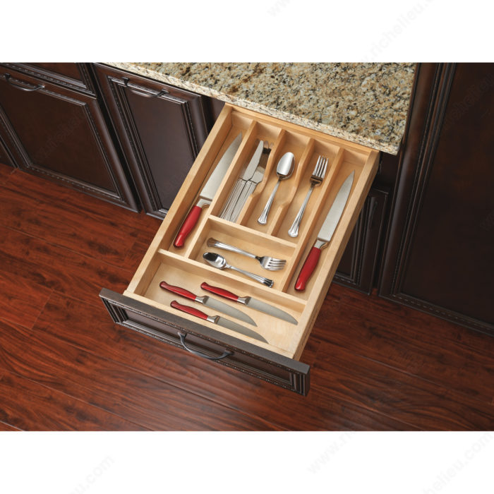 Trimmable Wood Cutlery Tray Richelieu Hardware