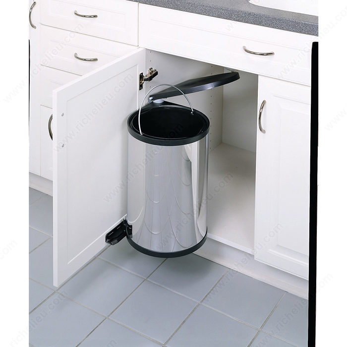poubelle pivotante 1 x 15 litres quincaillerie richelieu. Black Bedroom Furniture Sets. Home Design Ideas