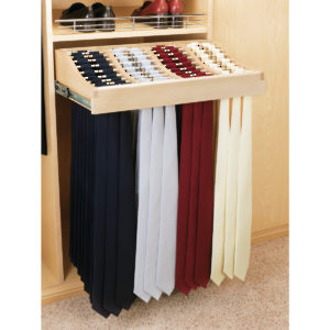 Sliding Tie Rack in Wood