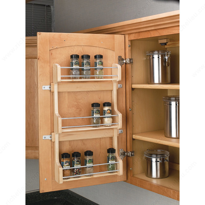 Door Mounting Spice Rack In Wood Richelieu Hardware