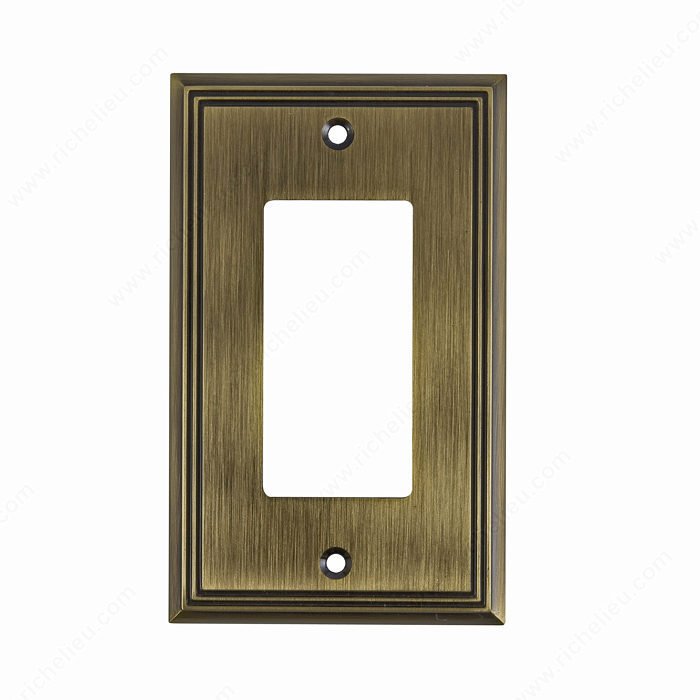 switch plate 1 decora contemporary style richelieu