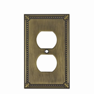 Plaque receptacle double - style traditionnel