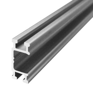Single Aluminum Running Track Type FCX, for Face-Mount to Cabinet Installation AL1540