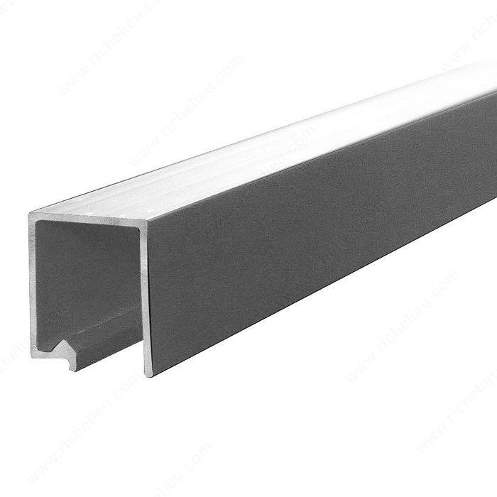 Rail Simple Supérieur En Aluminium Pour Porte Pliante Pl 25