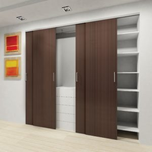 CD 40 CX. Bypassing Bottom Running Sliding System for Closet Doors
