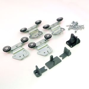 Top Sliding System for Bypass Closet Doors. DUCLOSET DOUBLE