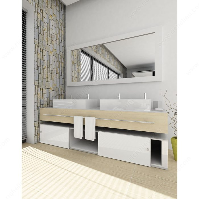 Overlay Kitchen Cabinet Doors: AL 1540 Sliding Door System For 1 Cabinet Door Full