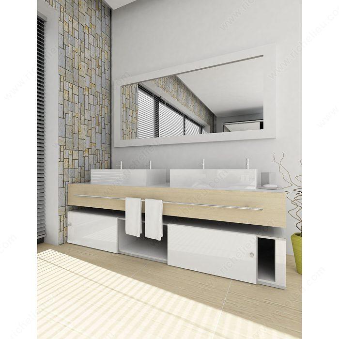 Sliding Door System For 1 Cabinet Door Full Overlay   Richelieu Hardware