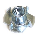 T Nut with 4 Prongs, Zinc