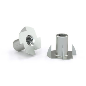 T nut with 4 prongs - Zinc