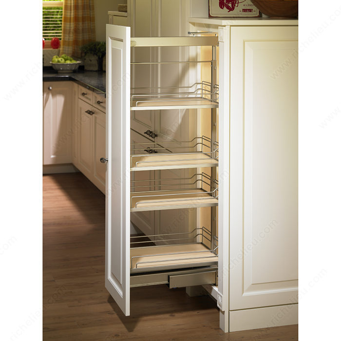 Pull Out Pantry Hardware: Dream Maple Dispensa System For Interior Height Of 74-3/4