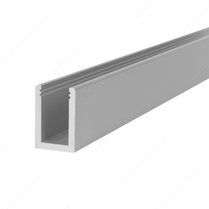 profil d 39 aluminium de 3 5 m tres en forme de u pour le. Black Bedroom Furniture Sets. Home Design Ideas