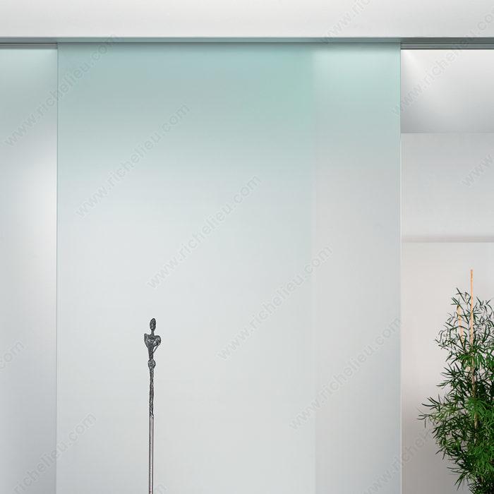 Ensemble de quincaillerie pour porte coulissante en verre - Quincaillerie porte coulissante ...