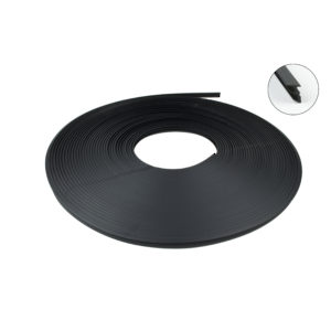 Sealing Profile, Black Plastic, 20 m Roll