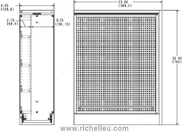 fileur coulissant panneau en acier inoxydable pour armoire du bas quincaillerie richelieu. Black Bedroom Furniture Sets. Home Design Ideas
