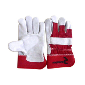 Cow Split Fitters Work Glove with Reinforced Palm