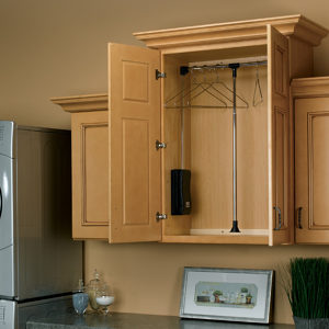 Pull Down Closet Rod For Wall Cabinet