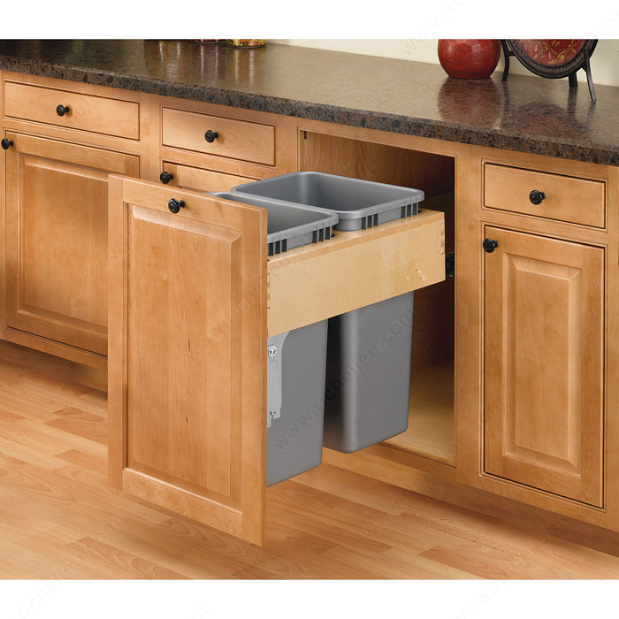 Beautiful Pull Out Garbage Cabinet Width