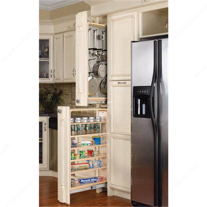 armoires garde manger troites avec panneau d 39 acier inoxydable magn tique quincaillerie richelieu. Black Bedroom Furniture Sets. Home Design Ideas