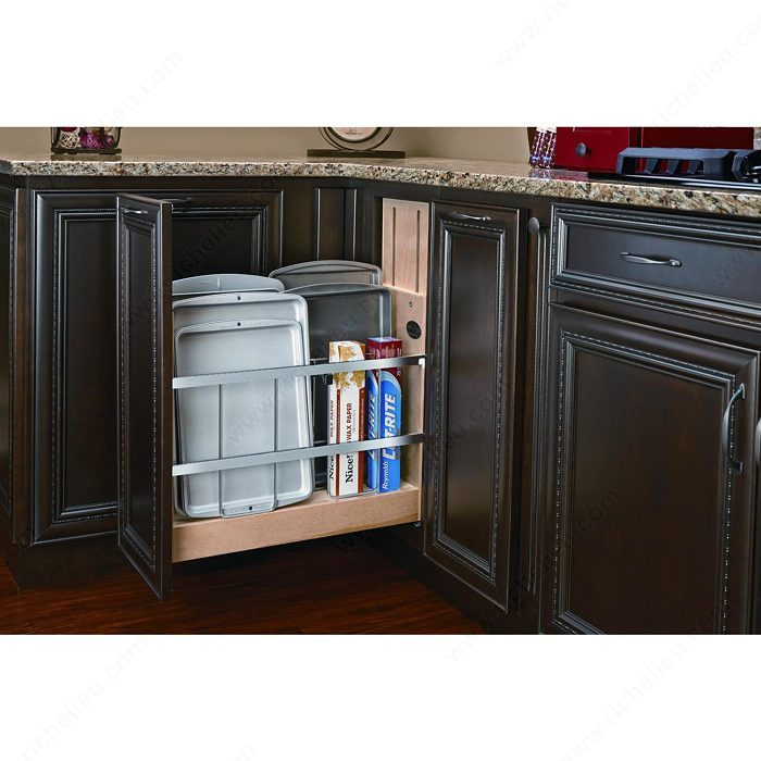 kitchen cabinet storage accessories pull out base cabinet organizer richelieu hardware 5807