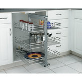 Chrome Pull-Out Pantry
