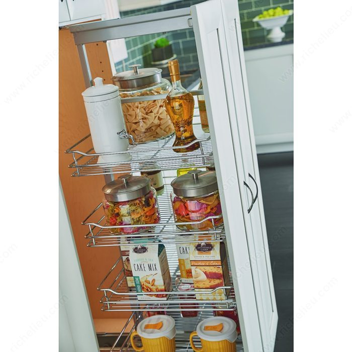 Contemporary Kitchen Storage Systems: Utility Cabinet Pull-Out