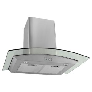 Glass and Stainless Steel Wall Hood