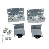 External Door Hardware Set for One Sliding Door, 33 mm, 60 kg