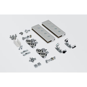 Hardware Set for One Glass Door, 8-10 mm, 80 kg