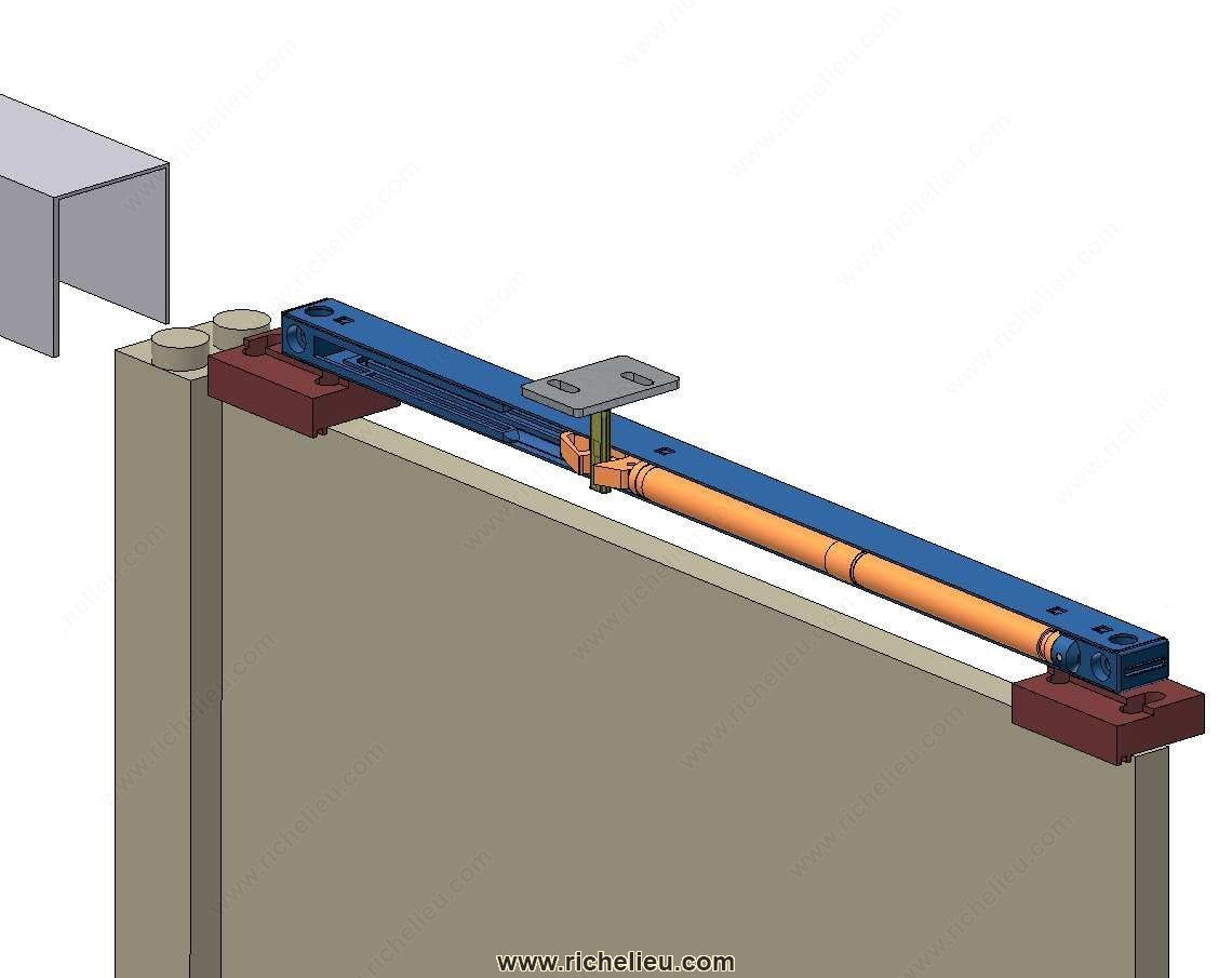 Syst me universel de fermeture amortie pour porte coulissante 60 kg ou 80 kg max - Systeme fermeture porte coulissante ...
