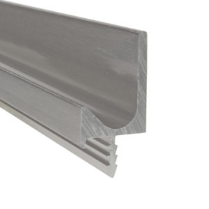 "Contemporary Pull Handle in J Shape for 3/4"" Panel - 3189"