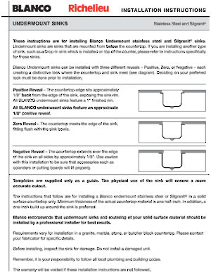 blanco sinks cleaning instructions