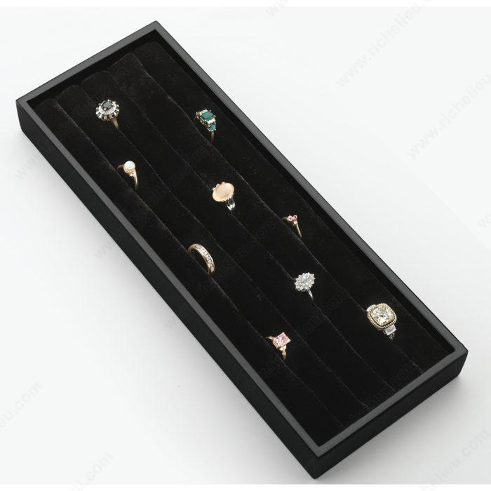 Velvet ring organizer richelieu hardware for Velvet jewelry organizer trays