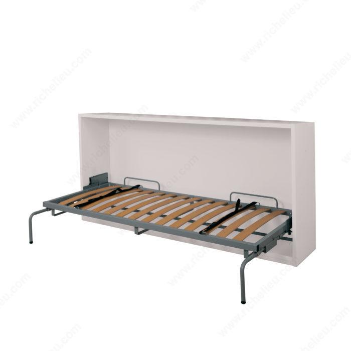 M canisme de lit mural horizontal avec pattes for Charniere pour lit escamotable