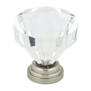 Eclectic Acrylic and Brushed Nickel Knob - 1008