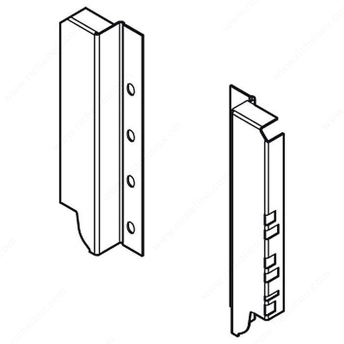 Back Fixings Brackets For Drawer Height C 192 Mm 7 1 2