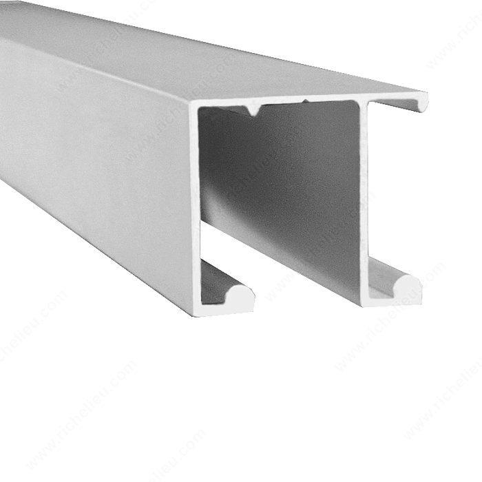 U28 Aluminum Double Track For Top Sliding Closet System   Richelieu Hardware